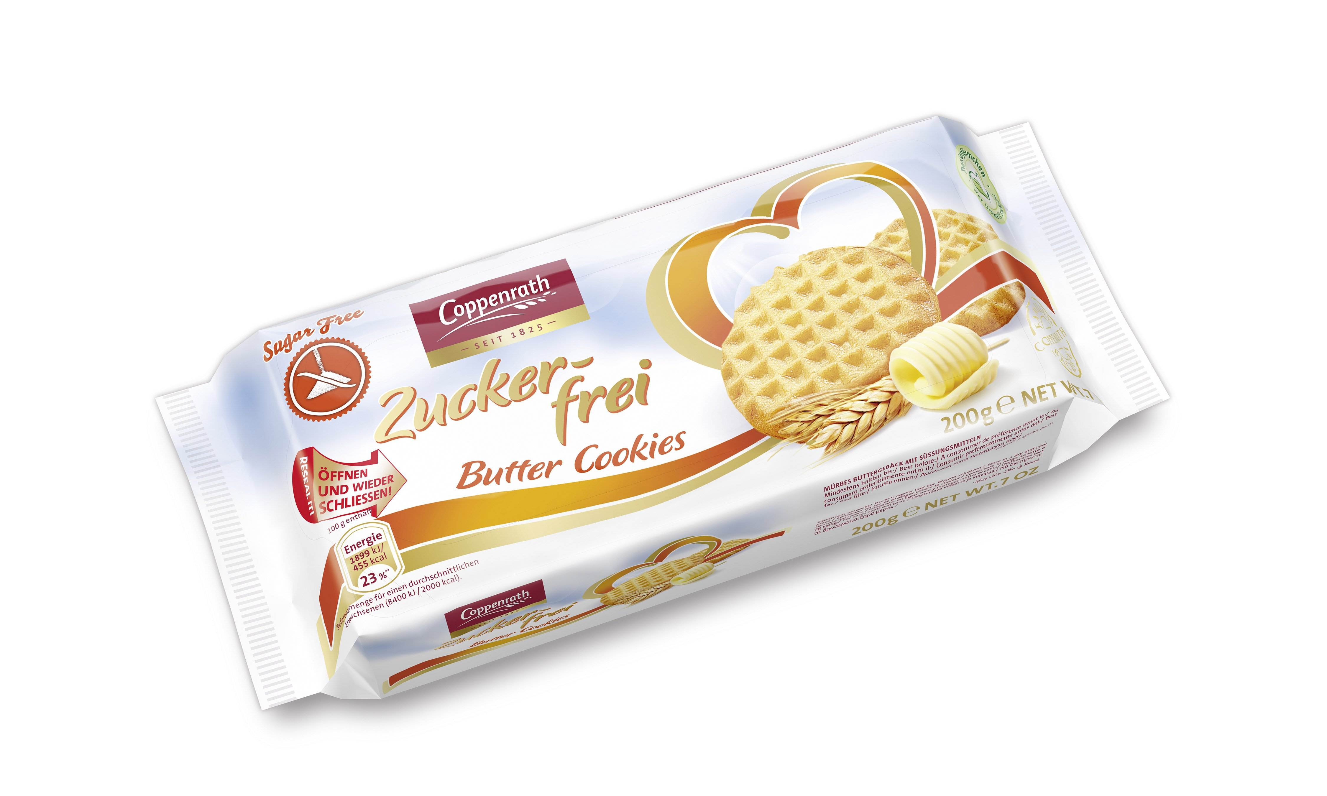 Coppenrath - Sugar Free Butter Cookies 200g x15