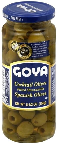 GOYA- PITTED MANZANILLA OLIVES 332g x 24