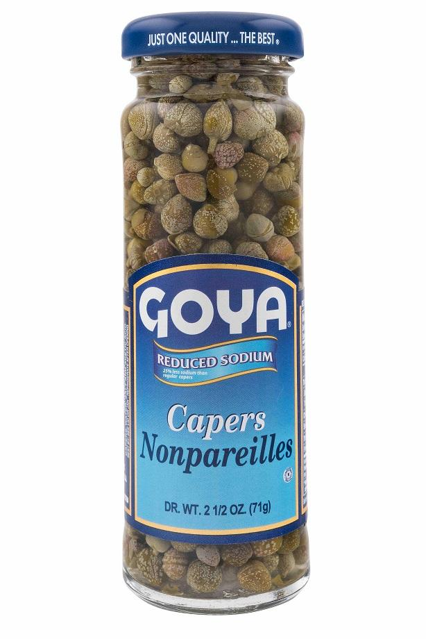 GOYA- CAPERS NON-PAREILS (REDUCED SODIUM) 111g x 12