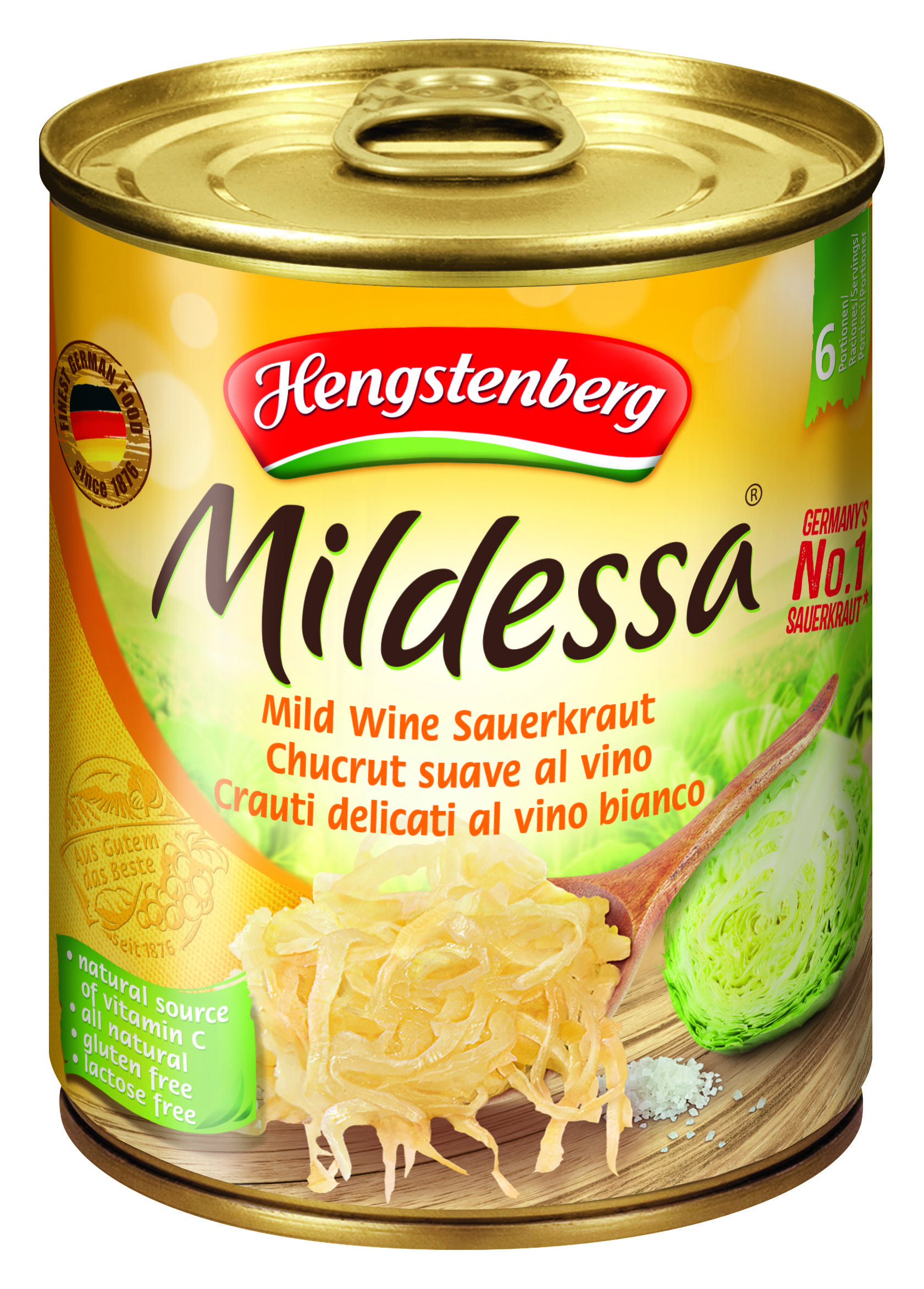 HENGSTENBERG - MILDESSA MILD WINESAUERKRAUT TINS 850ml x 12