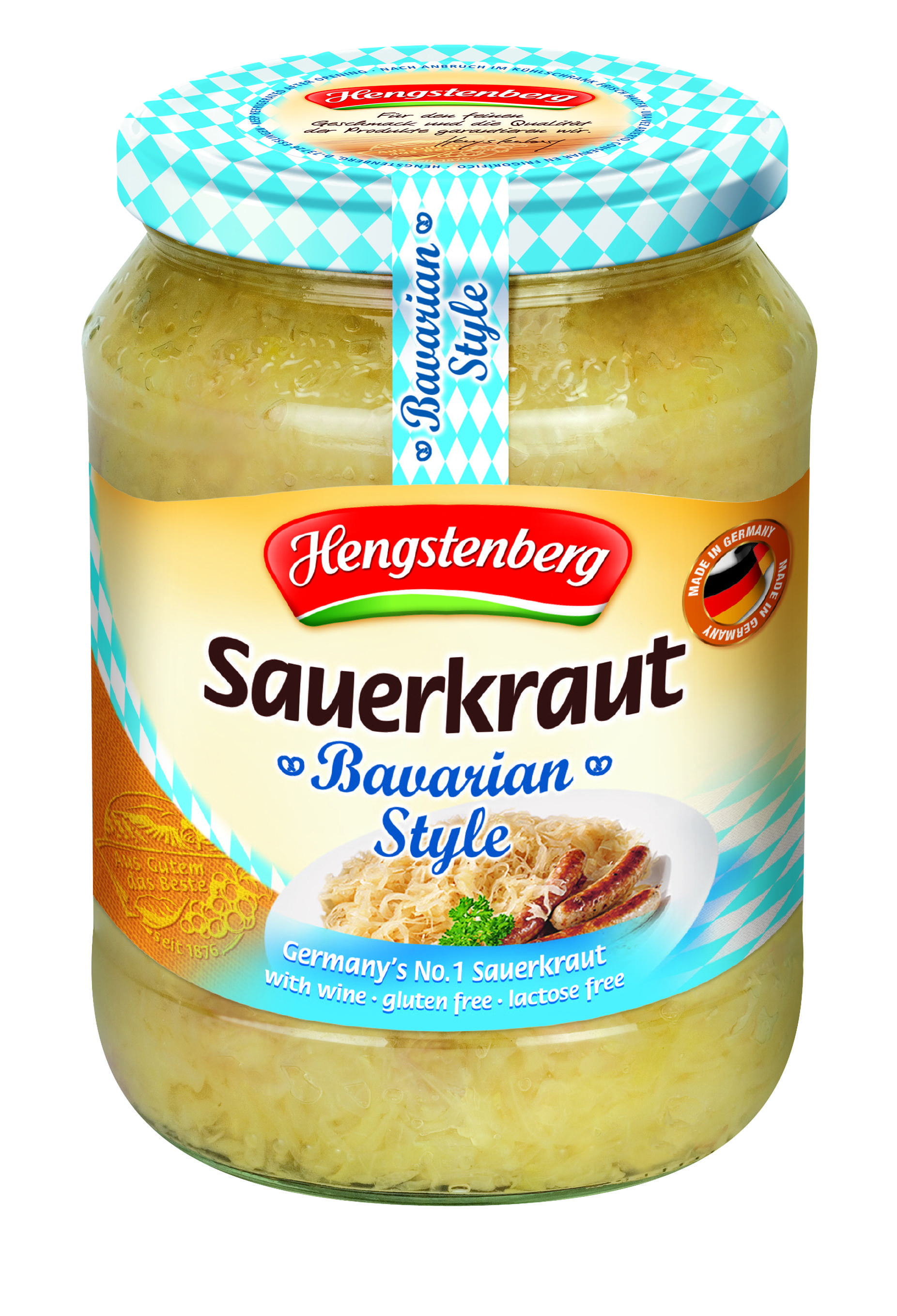 HENGSTENBERG - BAVARIAN STYLE SAUERKRAUT WITH WINE 720ml x 6
