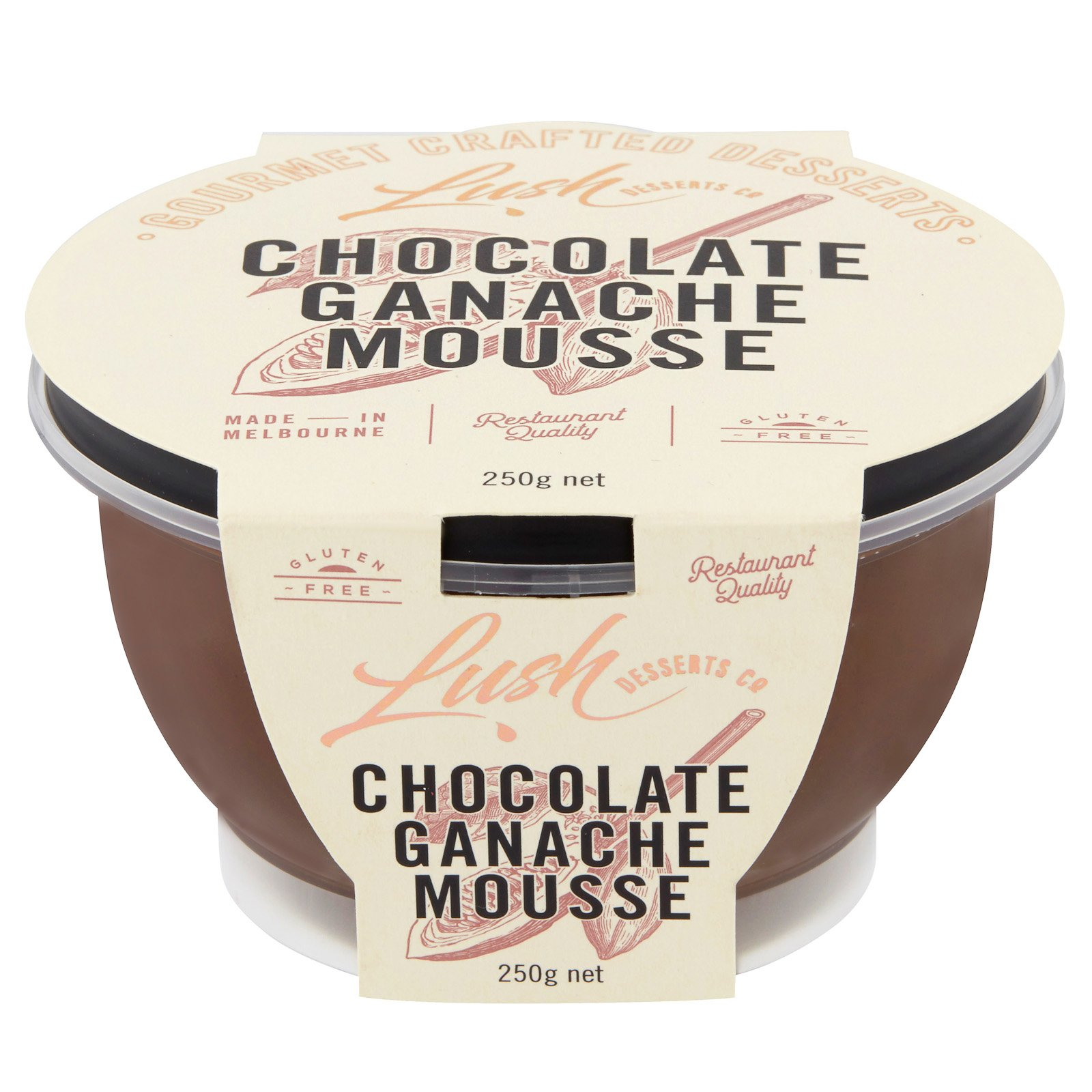 LUSH DESSERTS - CHOCOLATE MOUSSE 250g x6