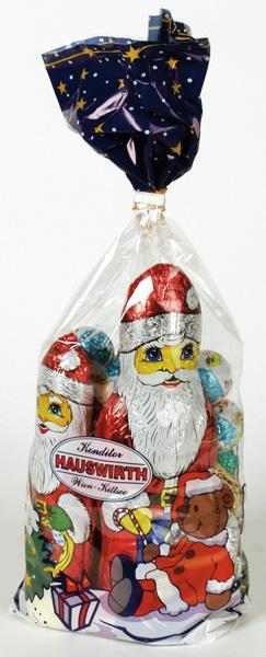 Hauswirth - Santa Mixed Choc Bag 700g x12