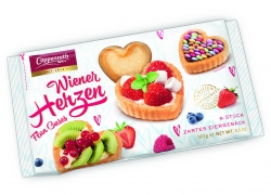 Coppenrath - Viennese Tartelets 6 flans Heart Shaped 100g x14