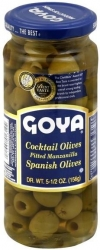 GOYA- PITTED MANZANILLA OLIVES 332g x 24 - Click for more info