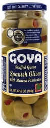 GOYA- QUEEN OLIVES STUFFED W MINCED PIMIENTO 349g x 24