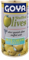 GOYA- MANZANILLA OLIVES  STUFFED W  MINCED BLUE CHEESE 338g x 12