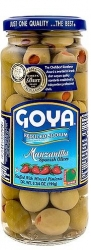 GOYA- SALAD OLIVES-BROKEN MANZANILLA OLIVES  W  PIMIENTO (salt reduced) 340g x 2