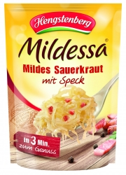 HENGSTENBERG - 3 MIN MILDESSA MILD SAUERKRAUT WITH SPECK IN BAG 400g x 6