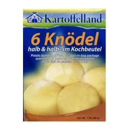 KARTOFFELLAND - DUMPLINGS HALF AND HALF IN BAG 200g x 7