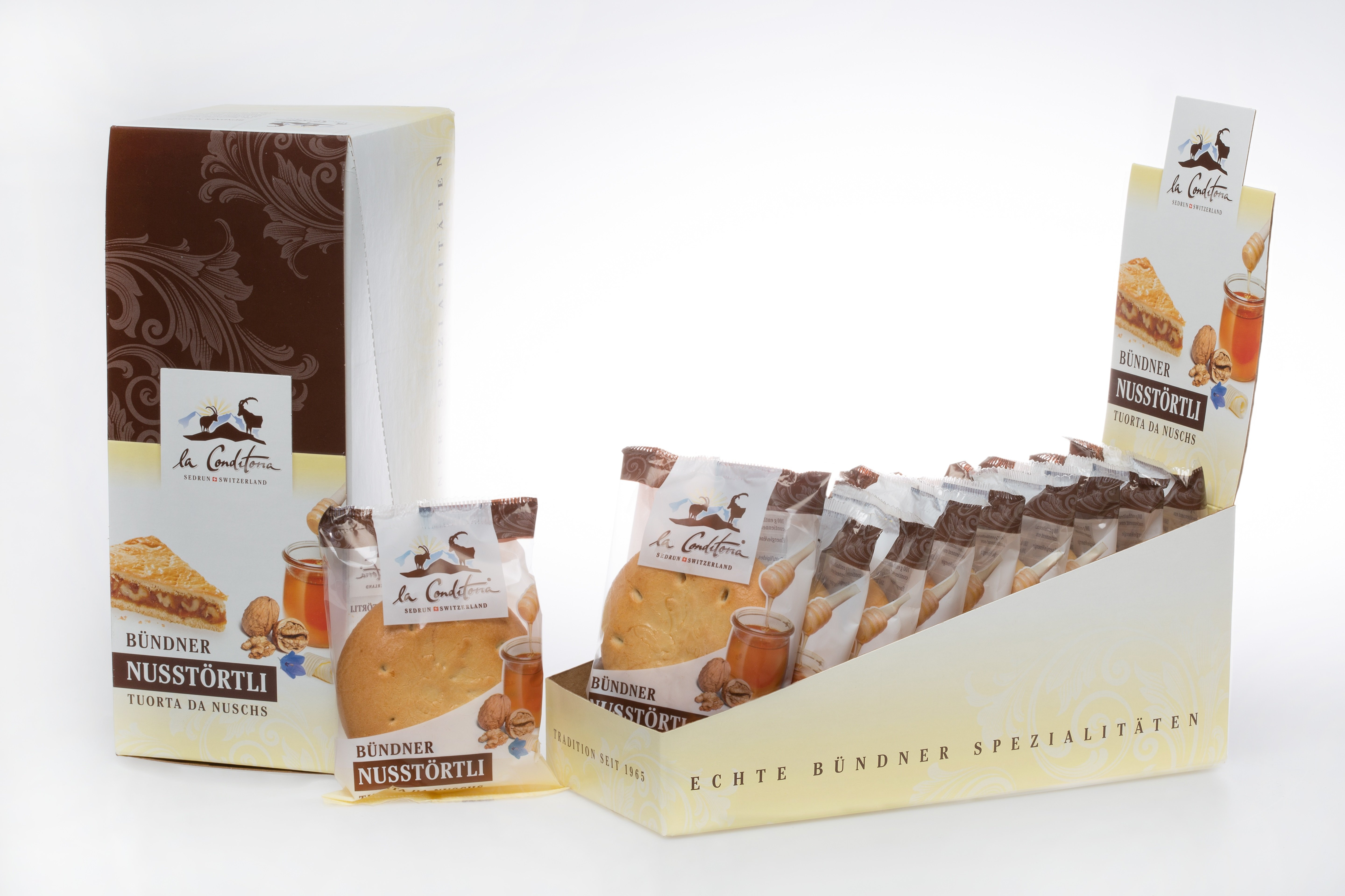 La Conditoria - Display with 10 Alpine Nut Cakes 75g x10